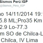 Temblor en chilca
