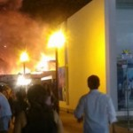 Incendio en tienda comercial del boulevard Asia jpg