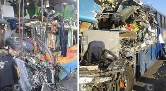 17 muertos y varios heridos por choque de buses en Nazca