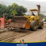 Maquinarias pesadas del GRL intervienen en labores de limpieza en quebradas y caminos de Santa Eulalia y Ricardo Palma