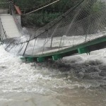 Se desploma Puente Colgante de Catapalla - Lunahuana