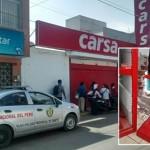 Sujetos roban tienda comercial en San Vicente
