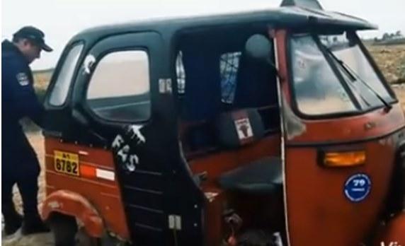 Hallan mototaxi desmantelada en San Vicente