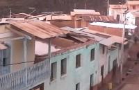 Pobladores afectados por fuertes vientos y lluvia en el distrito de San Pedro de Pilas